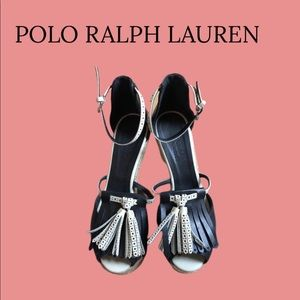 Polo Ralph Lauren wedge sandals. EUC